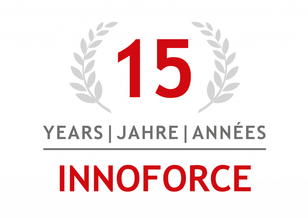 INNOFORCE 15 Years anniversary badge