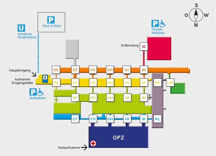 Lageplan LMU München