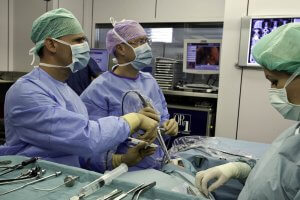 Dr Briner and Simmen at Operation Theatre